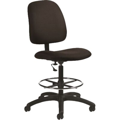 Global Total Office Total Office Goal Armless Drafting Pneumatic Task Chair Fire Rated