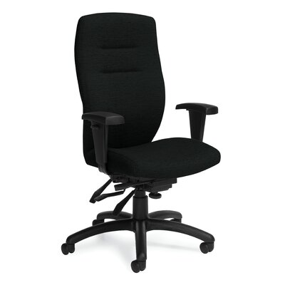 Global Total Office Synopsis High-Back Multi Office Chair with Height Adjustable Arms