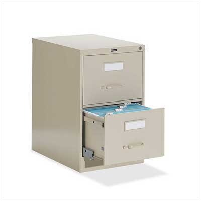 Global Total Office 2-Drawer  Letter File