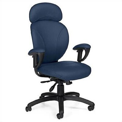 Global Total Office High-Back Synchro-Tilter Executive Chair with Arms