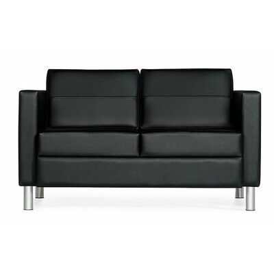 Global Total Office Citi Leather Loveseat