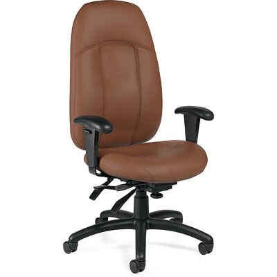 Global Total Office High-Back Leather Mul..