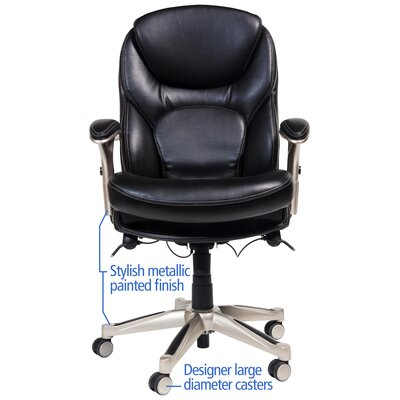 Serta at Home Back in Motion™ Health and Wellness Mid-Back Conference Chair