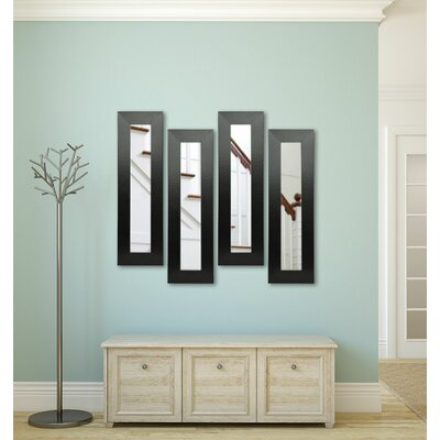 Rayne Mirrors Molly Dawn Black Wide Leather Mirror Panels