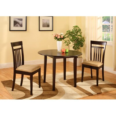 Bernards Merlot 3 Piece Dining Set