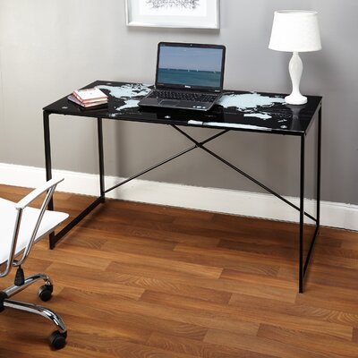 TMS World Map Writing Desk
