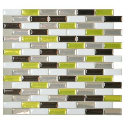 smart tiles mosaik x peel stick subway tile in 3 color blend reviews wayfair. Black Bedroom Furniture Sets. Home Design Ideas