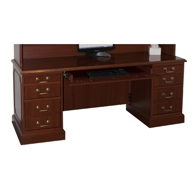 High Point Furniture Bedford Executive Desk with 3 Right & 3 Left Drawers