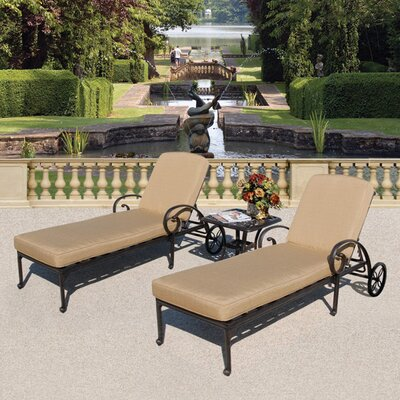Art Frame Direct Maravilla 3 Piece Chaise Lounge Set With