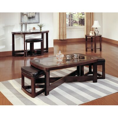 Woodhaven Hill 3219 Series Coffee Table with 2 O..
