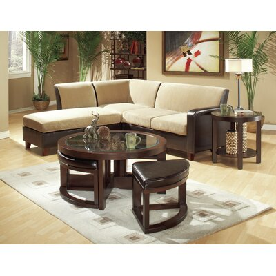 Woodhaven Hill 3219 Series Coffee Table with 4 O..