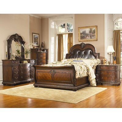 Woodhaven Hill Palace Sleigh Customizable Bedroom Set