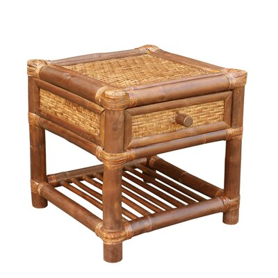 ZEW Inc Bamboo Wood  End Table