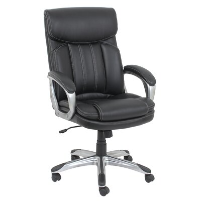 Barcalounger Mid-Back Leather Executive Chair with Arms