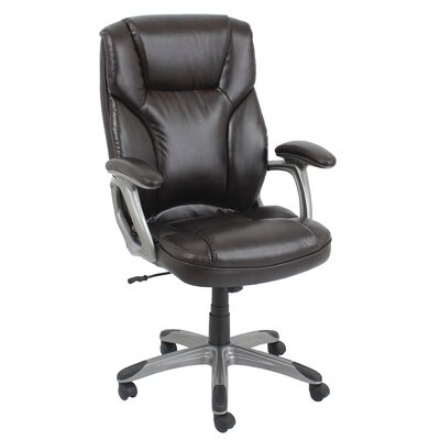Barcalounger High-Back Leather Executive Office Chair with Arms