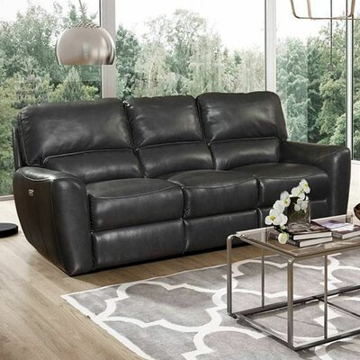 Barcalounger Stratford Power Reclining Leather Sofa