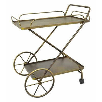 Three Hands Metal Rolling Bar Cart