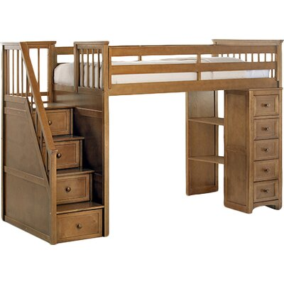 NE Kids School House Stair Loft w/ Chest End
