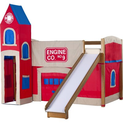NE Kids School House Firehouse Loft with ..