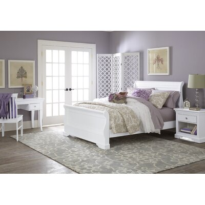 NE Kids Walnut Street Sleigh Bed