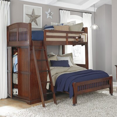 NE Kids Walnut Street Loft Bed