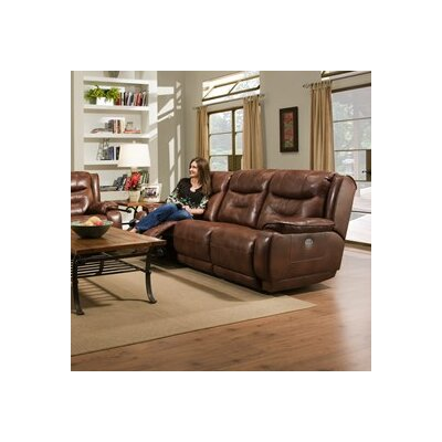 Southern Motion Crescent Reclining Leather Sofa