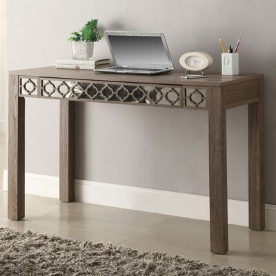 OSP Designs Helena 1 Drawer  Writing Desk with Mirror Accent Panel