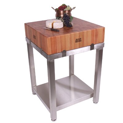 John Boos Cucina Americana Laforza Prep Table with Butcher Block Top