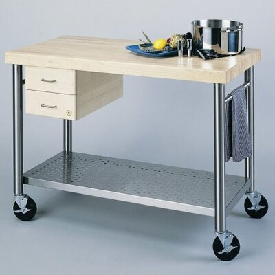 John Boos Cucina Americana Prep Table with Wood ..