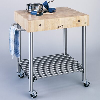 John Boos Cucina Americana Kitchen Cart with Bu..
