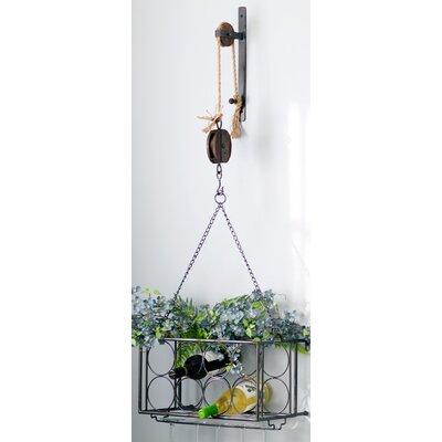 Melrose International Pulley 8 Bottle Hanging Wine Rack