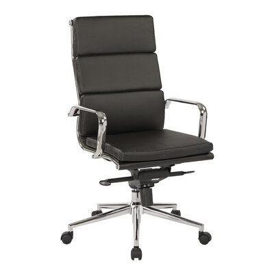 OSP Furniture Adjustable High-Back Executive Chair