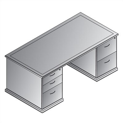 OSP Furniture Mendocino Double Pedestal E..