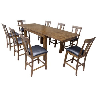 Loon Peak Alder Counter Height Extendable Dining Table