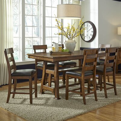Loon Peak Billings Counter Height Extendable Dining Table