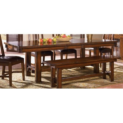 Loon Peak Stockett Solid Mahogany Wood Kitchen Bench