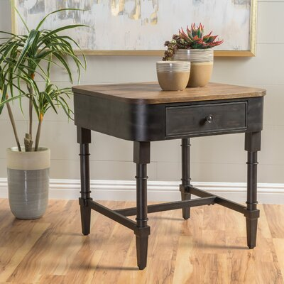 Home Loft Concepts Myrtle Wood End Table