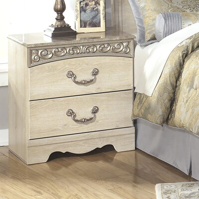 Astoria Grand Johnby 2 Drawer Nightstand