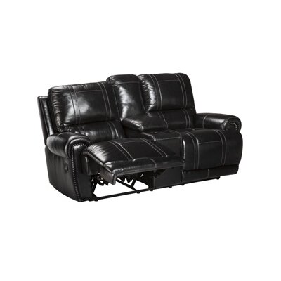 Signature Design by Ashley Paron Double Reclining Loveseat with Console