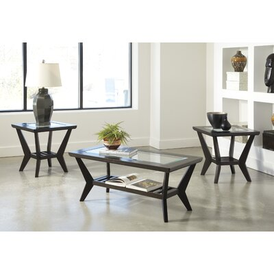 Signature Design by Ashley 3 Piece Coffee Table Set in Brown