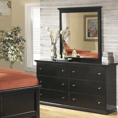 Signature Design by Ashley Maribel 6 Drawer Dresser with Mirror