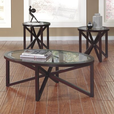 Signature Design By Ashley Sleffine 3 Piece Coffee Table Set U0026 Reviews |  Wayfair