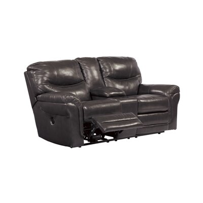 Signature Design by Ashley Double Reclining Loveseat with Console
