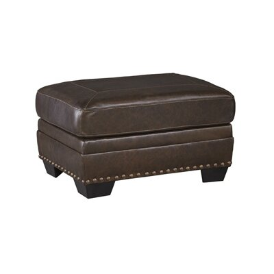 Darby Home Co Toronto Leather Ottoman