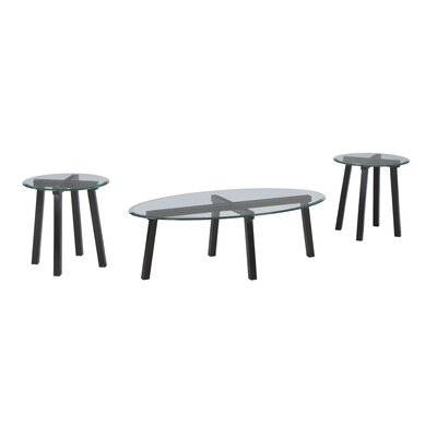 Signature Design by Ashley Iselle 3 Piece Coffee Table Set