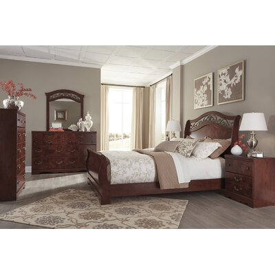 Rosalind Wheeler Schwerin Sleigh Customizable Bedroom Set