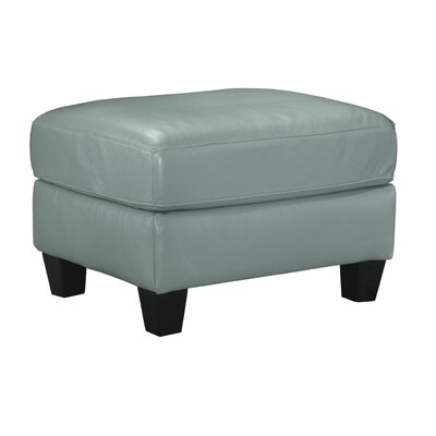 Red Barrel Studio Wellston Leather Ottoman