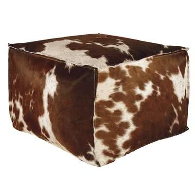Trent Austin Design Tall Timber Leather Ottoman Image