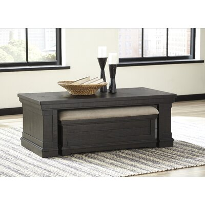 Laurel Foundry Modern Farmhouse Fargo Coffee Table with Nested Stools (Set of 2)