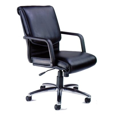 Mayline Group Mercado Alliance Mid-Back Leather Conference Chair with Arms
